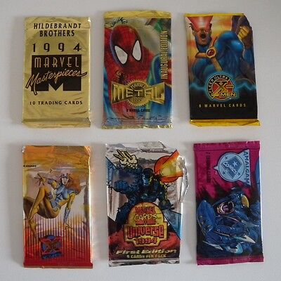 Marvel trading cards anni '90 (6 bustine)
