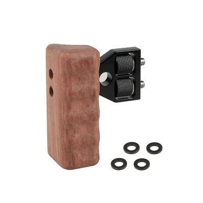 CAMVATE DSLR Wood Wooden Handle right Grip Mount Support For DV Video Cage Rig