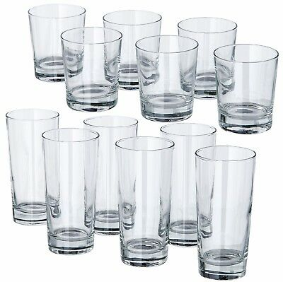 GODIS Clear Glass Tumbler 8/14oz Dishwasher Safe Drinking Glasses Pack of 6 IKEA
