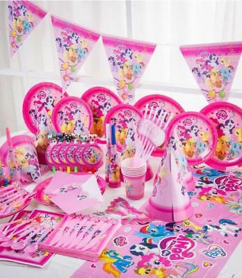 My Little Pony Girls Theme Tableware Party Supplies Decor Favor Kids Birthday