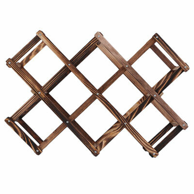 Wooden Red Wine Rack 10 Bottle Holder Mount Kitchen Bar Display Shelf 2F
