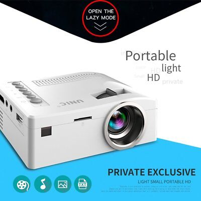 UNIC UC18 HD 1080P Home theater AV IN/SD/USB/VGA/HDM WIFI LCD LED Projector QW
