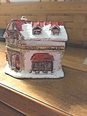 Scrooge Counting House A Dickens Christmas 1988 Hand Painted cold cast cottage