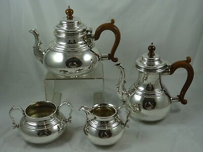 QUALITY, GEORGE I style solid silver TEA SET , 1962, 1952gm - Comyns