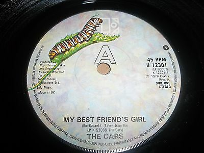 """The Cars """" My Best Friend's Girl """" 7"""" Single 1978 Elektra Excellent"""