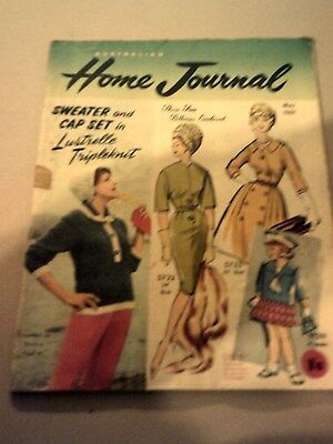 Australian Home Journal. May 1961 Vintage Magazine With Unused Patterns.