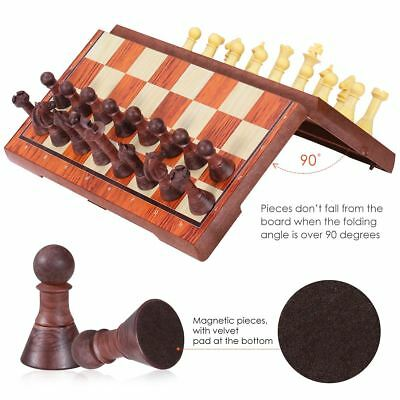 iBaseToy Magnetic Travel Chess Checkers Set Classic Chess Board