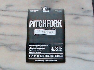 Rch Pitchfork Real Ale Beer Pump Clip Sign