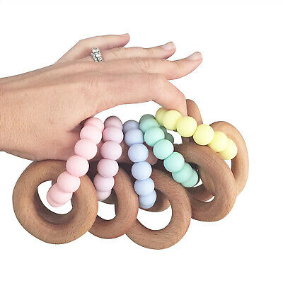 Nature Bubz Scandi Rattle Baby Teether- Assorted Colours