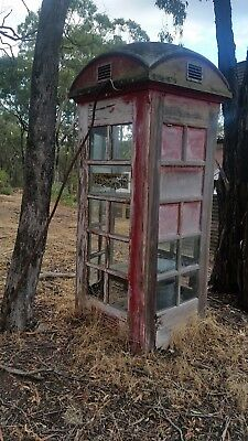 OLD RED TELEPHONE BOX  VICTORIA HERITAGE  VINTAGE Pre 1950's for Restoration.