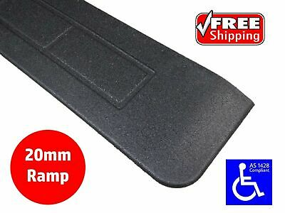 RUBBER THRESHOLD RAMP 20mm WHEELCHAIR ACCESS DISABILITY DOOR STEP WEDGE
