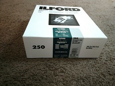 Ilford photographic paper, 250 sheets, 8 x 10 in