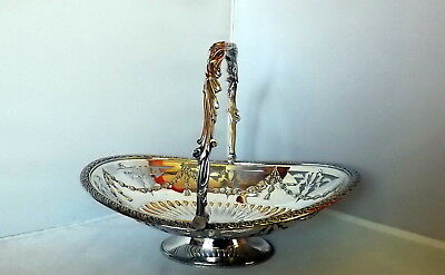 Early Victorian Large Silver Plated Cake Basket - Sheffield (1859-63)