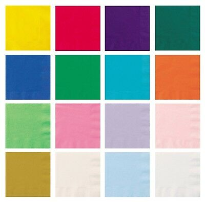 Paper 33cm NAPKINS Party Tableware Plain Solid Colours Event Catering Pack of 20