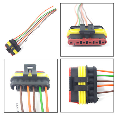 Details About 5 X 6 Pin Wiring Loom Connector Plug Pit Bike Bicycle on