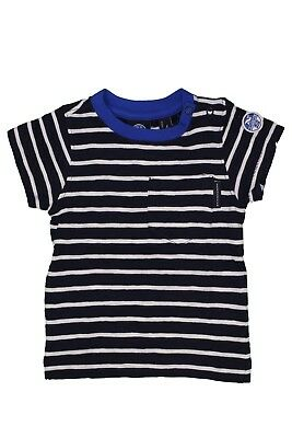 T.shirt girocollo North Sails junior striped cotone righe blu