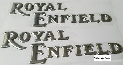 Royal Enfield Bullet Silver Fuel Tank Logo Badge Decal Sticker