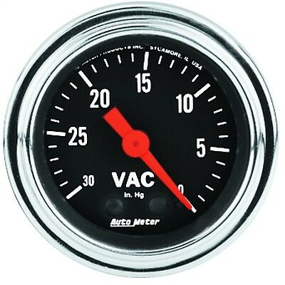 AutoMeter 2484 Traditional Chrome Mechanical Vacuum Gauge - NEW!!