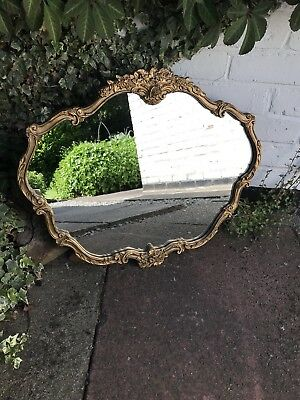 Gold Mirror Ornate Wall Mirror Portrait Mirror Vintage Antique Mirror Ornate
