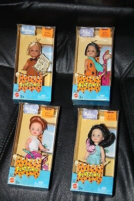 lot of 4 The Flintstones figures in box 2003 Mattel Fred Betty wilma Barney