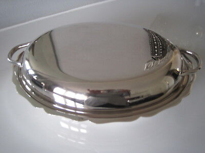 Vintage Sheffield EP on Copper Lidded Oval Entree Dish - Great Condition