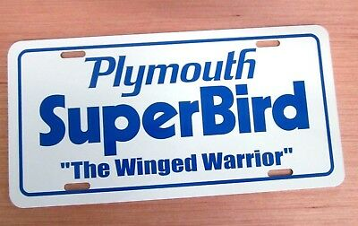 w 1970 Plymouth Superbird license plate car tag 70 winged Road Runner Super BIRD