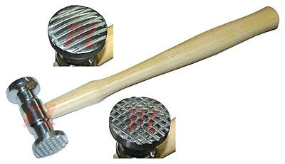 """SQUARE & LINE HAMMER TEXTURING Textured Metal Forming Former 10-1/2"""" Length"""