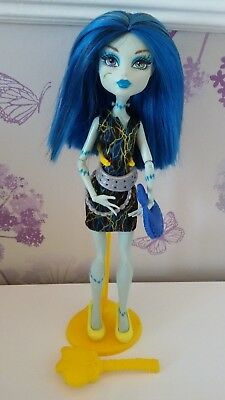 Monster High Frankie Stein Blue Hair Doll,Bag,Brush & Stand