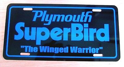 b 1970 Plymouth Superbird license plate car tag 70 winged Road Runner Super BIRD