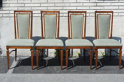 Set of 4 Modern 1950 Dining Room Chairs Newly Upholstered & Restored