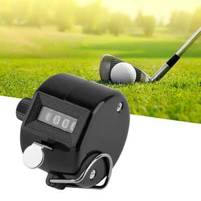 4 Digit Hand Held Tally Counter Manual Palm Clicker Number Counting Golf AW