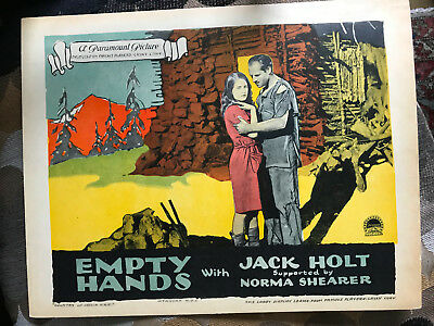 Empty Hands 1924 Paramount silent lobby card Norma Shearer Jack Holt