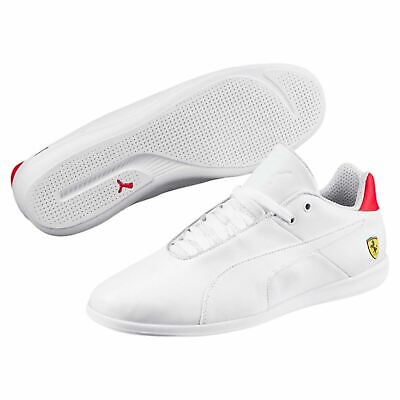 [306001-03] Mens PUMA SF Ferrari Future Cat Sneakers - White