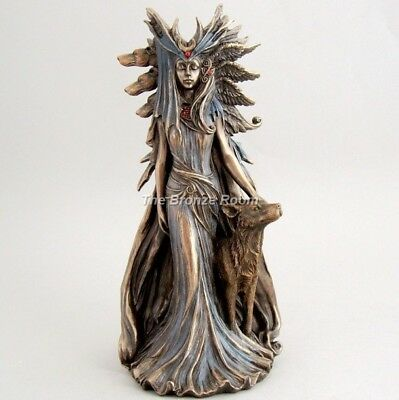 Goddess Hekate Hecate Wiccan & Greek Mythology Bronze Figurine