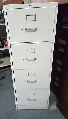 Hon 4 Drawer Beige Legal Size Vertical File Cabinet: Fire Resistant - Pre-Owned