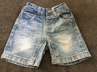 Baby Boys Denim Shorts Next Age 9-12 Months Excellent Condition