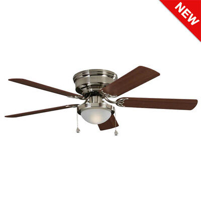 flush mount ceiling fan brushed nickel. Modren Mount Harbor Breeze Armitage 52in Brushed Nickel Indoor Flush Mount Ceiling Fan  Light To