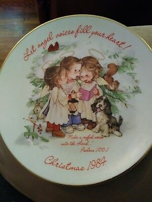 American Greetings Designers Collection. Keepsake for Christmas 1984 plate