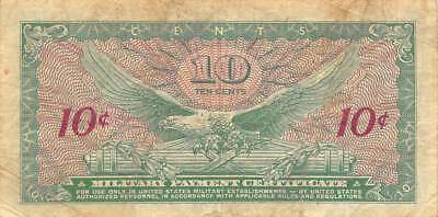 USA / MPC  10  Cents  ND. 1965  M58  Series  641  Plate 83  Circulated banknote