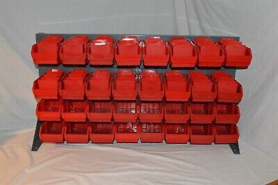 Bench Pick Rack (Parts Storage Rack, Organizer) 36 X 19 inches with 32 Bins