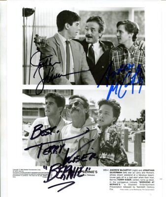 cast of all 3 WEEKEND AT BERNIE'S autograph HAND SIGNED  6456