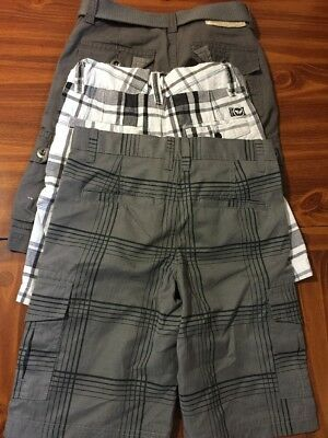 BOYS LOT OF 3 PAIR SHORTS/ SIZE 8/ Tony Hawk / Shaun White /Levi's/PLAID/MULTI