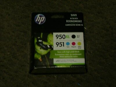 HP 950XL High Yield Black/951 Standard Tri-Color (C2P01FN140) Inkjet Cartridge