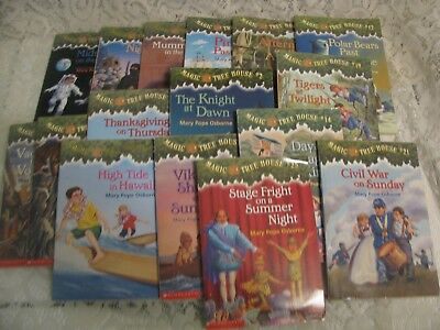 Lot of 16 Magic Tree House Mary Pope Osborne  books + Activity -Puzzle book