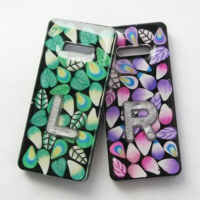 Pair of Leaves and Feathers X-ray Markers. Up to 3 initials/numbers. Free ribbon