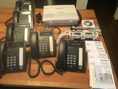 Panasonic KX-TA 824 Hybrid Phone System Includes 6 Handsets Excellent Condition