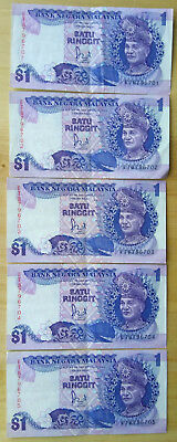 Malaysian one ringgit bank note 1982 good condition