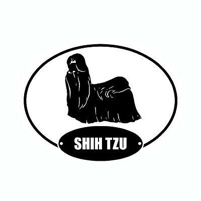 Shih Tzu Euro Vinyl Dog Car Decal Sticker