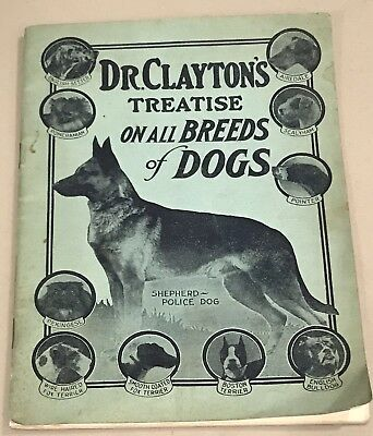 1900 Dr Claytons Treatise Breeds Dogs Book Art Pet Pittsburgh German Sheppard