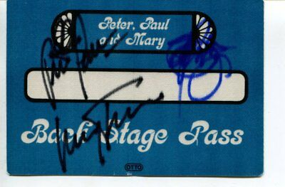 PETER , PAUL & MARY  autograph HAND SIGNED  6729